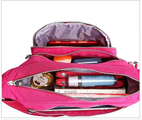Resistente all acqua con leggero nylon borsa a tracolla 8203 Lavender Hot Pink Bajo Costo Barato Y Agradable El Envío Libre De Elegir Un Mejor 7gJUu