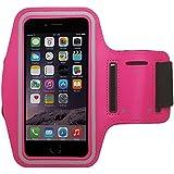 Pratique sac de sport bracelet pour Smartphone et MP3Player avec compartiment pour clés de PrimaCase Alcatel Pop 4S / 4+ 07.Rosa