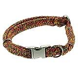 Dinoleine Hunde-Halsband mit Click-Verschluss, Größenverstellbar, Polyester, Größe: L/ 45-70 cm, Regenbogen, 281113