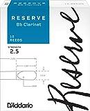 D\'Addario Woodwinds DCR1025 Reserve Boîte de 10 Anches pour Clarinette SIB Force 2.5 Blanc