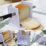 Attrezzo da cucina per tagliare a fette il pane, regolabile, con guida per il taglio, multifunzionale