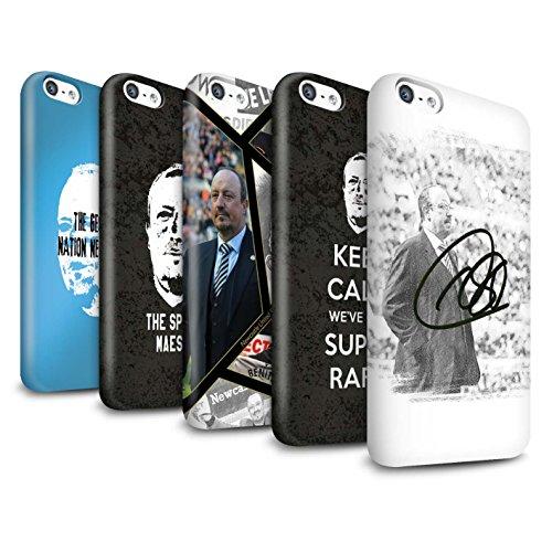 Offiziell Newcastle United FC Hülle / Glanz Snap-On Case für Apple iPhone 5C / Pack 8pcs Muster / NUFC Rafa Benítez Kollektion Pack 8pcs