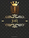 Joel: Unique Personalized Gift for Him - Writing Journal / Notebook for Men with Gold Monogram Initials Names Journals to Write with 120 Pages of Life ... Simple Thoughtful Cool Present for Male