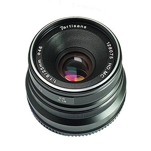 7artisans 25mm F1.8 Objectif de mise au point manuelle pour Panasonic et Olympus Caméras Micro M4 / 3 Mont - Noir