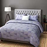 RAGO FASHION ABSTRACT GEOMETRICAL PRINT GREY AND WHITE BEDSHEET SET (DOUBLE BED)