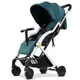 QXMEI 2 in 1 Buggy Kinderwagen Pushchair Stroller Sportwagen Babywagen Für Kinder 6 Monate 3 Jahren Alt mit Sonnenverdeck,Green