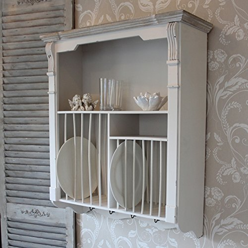 Cream Wall Mounted Plate Rack ... & Cream Wall Mounted Plate Rack u2013 Lyon Range u2013 Search Furniture