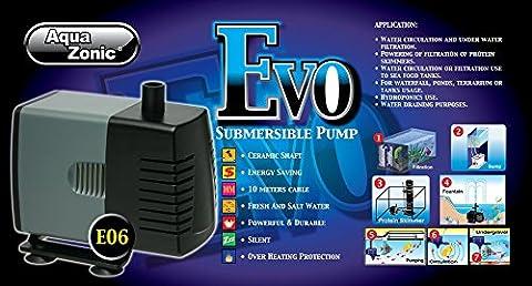 SUBMERSIBLE WATER PUMP FISH POND AQUARIUM TANK WATERFALL FOUNTAIN SUMP FEATURE (4000L/H E-06 Pump)