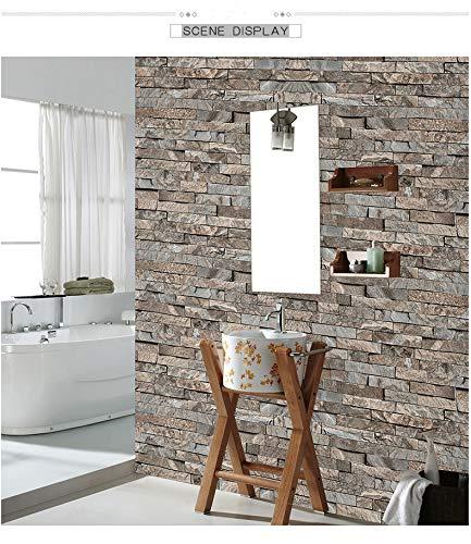 Retro 3D dreidimensionale Kultur Ziegel Marmor Ziegel Muster Tapete Nachahmung Bluestone Rock Block PVC Tapete 10m * 0,53m,10m*0.53m -