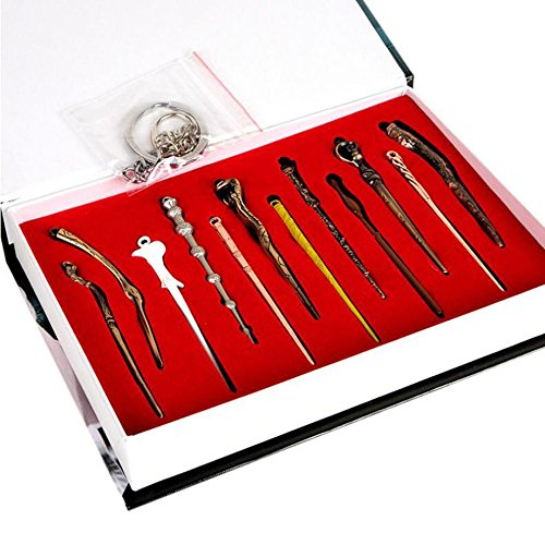 FANCYTHAT & SCIFI PLANET 12 pcs/set Mini Harry Potter Cosplay Metal Wands in Gifts Box