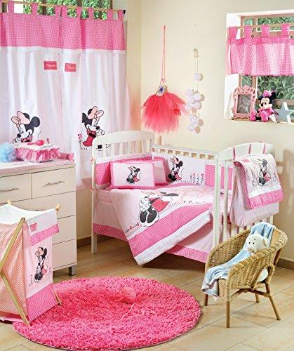 Disney Baby Minnie Mouse Flower 4-teiliges Babybettw?sche-Set