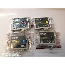 FULL SET - Epson photo stylus T0441 T0452 T0453 T0454 (C13T04454010 / T044540) black cyan magenta yellow ink cartridge for C64 C84 CX6400 C66 C86 CX6600 CX3600 CX3650 CX4600 - loose pack