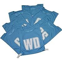 Netball équipe vêtements de sport balle d'entraînement entraînement Respirable BAVETTES taille unique Bleu Ciel Set de 7