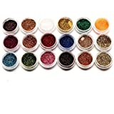 IGEMY 18 Colors Nail Art Glitter Powder Dust For UV Gel Acrylic Powder Decoration Tips (Colorful)