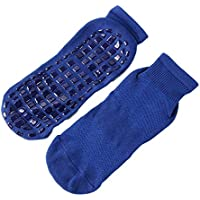 Generies Calcetines de Yoga Antideslizantes de Color sólido para Hombres y Mujeres Calcetines Deportivos para niños Calcetines de trampolín