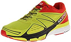 SALOMON Men's X-Scream 3D Trail Running Shoes, Yellow (Gecko Green / Bright Red / Black), 44 2 / 3 EU