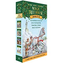 Magic Tree House Books 13-16: the Mystery of the Lost Libraries: Vacation Under the Volcano/Day of the Dragon King/Viking Ships at Sunrise/Hour of the Olympics