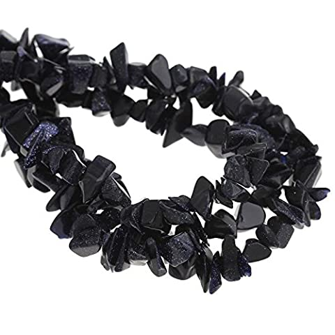 Blue Goldstone Gemstone Chip Beads One Strand (320 beads approx)