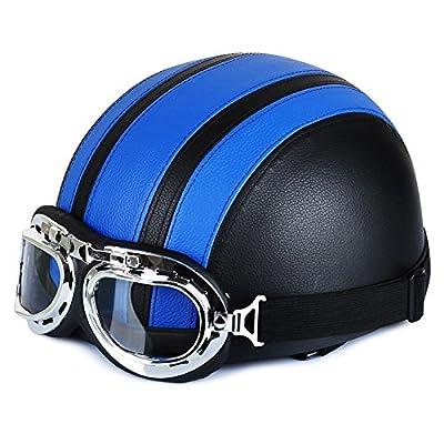 Johnson Motorcycle Helmet Harley Helmet Motorcycle Electric Helmet Men And Women Summer Helmet Special Helmet With High Quality Goggles by XYeleven