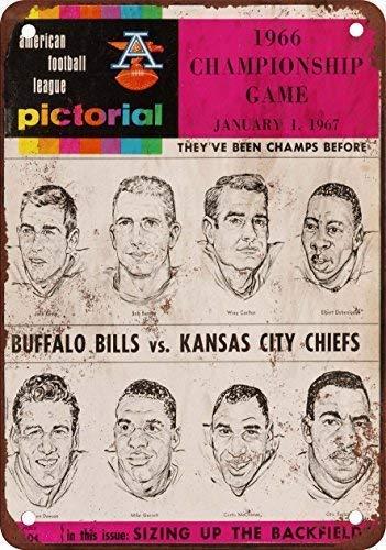 Toddrick 1966 AFL Championship Bills vs Chiefs Zinn schicke Zeichen Vintage-Stil Retro Küche Bar Pub Coffee Shop Dekor 8
