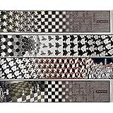 M.C. Escher – Metamorfosis [ 4 paneles separados ] Artistica di Stampa (104,14 x 22,86 cm)
