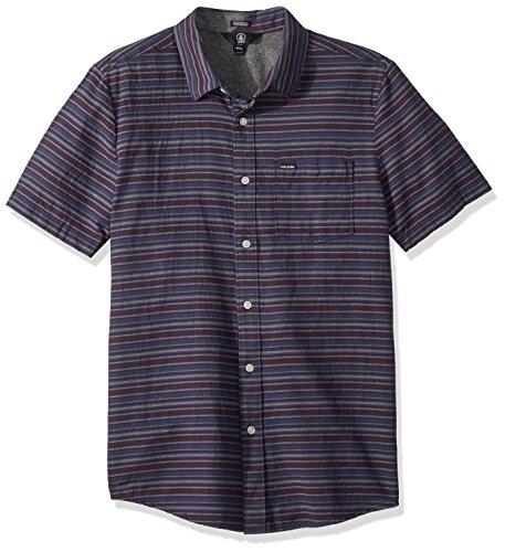 Volcom Men's Sable Short Sleeve Button Down Shirt