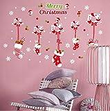 Jkxiansheng Joyeux Noël Fenêtre Sticker Mural Noël Bonhomme De Neige Chaussettes Ornements Fenêtre Autocollants Muraux Christmas Wallpapers