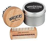 John Whiskers Bartbürste mit reinen Wildschweinborsten und edler Aufbewahrungsbox inkl. antistatischem Duo-Kamm - Bartpflege-Set - perfekt zum Auftragen von Bartwachs und Bartöl