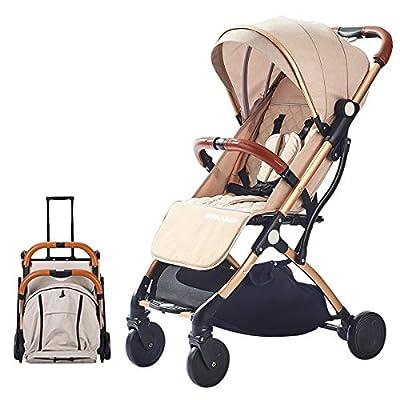 SONARIN Leicht Kinderwagen,kompakt Reise Buggy,einhändig faltbar,Fünf Punkt Gurt,ideal für Flugzeug