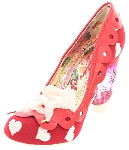 Irregular choice, escarpins femme motif oN tHE 3801-49 lINE Rouge - Rouge