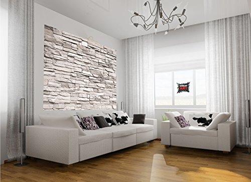 sale fototapete white stonewall wandbild dekoration. Black Bedroom Furniture Sets. Home Design Ideas