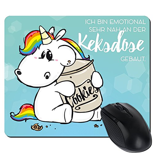 Preisvergleich Produktbild getshirts - Pummeleinhorn - Mousepad - Keksdose - weiss uni