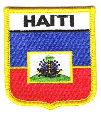 Wappen Aufnäher Patch Haiti Flagge Fahne EU (Fahne Haiti Patch)