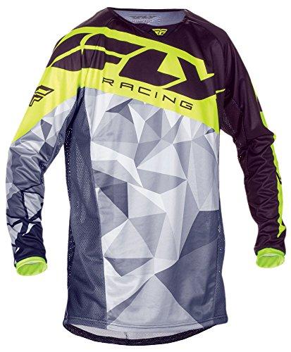 Preisvergleich Produktbild Fly Racing Kinetic Motocross/Mountainbike Jersey Crux schwarz-hi-vis L