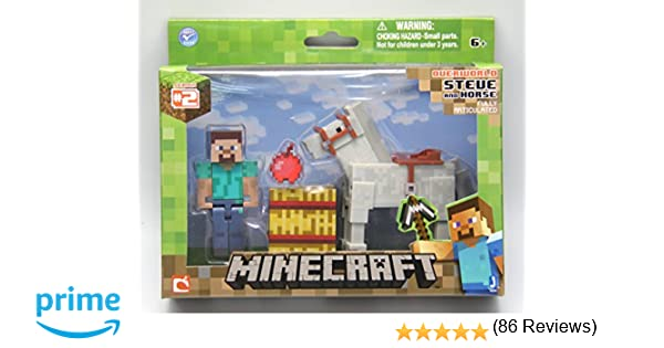 Minecraft Steve with Horse: Amazon.co.uk: Toys & Games
