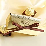 Hrain Gold Paper Candy Box Ferrero Rocher Gift Bag Wedding Favor Gift Boxes Baby Shower Favors Birthday Party Christmas Supplies,100pcs