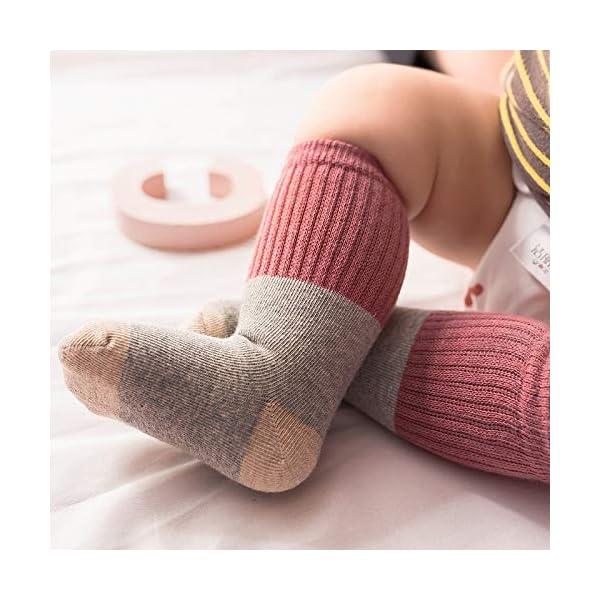 Ceguimos - Pack de 6 pares Calcetines Largos para Bebé Niño Niña 3