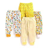 BABY PYJAMAS PACK OF 4, 6-9MONTHS, YELLOW