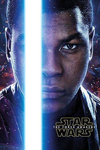 empireposter Star Wars EP7 Finn Episode 7 Poster Plakat Größe 61x91,5cm, Papier, bunt, 91.5 x 61 x 0.14 cm