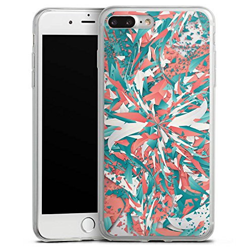 Apple iPhone 8 Plus Slim Case Silikon Hülle Schutzhülle Farben Explosion Kristalle Silikon Slim Case transparent
