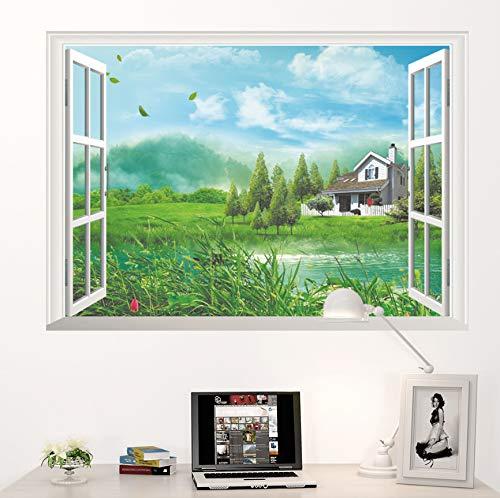 Wohnzimmer Tv Hintergrund Wanddekoration 3D Stereo Fenster Wandaufkleber