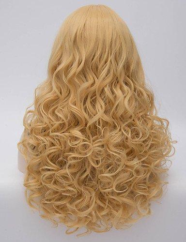 Mode Perücken WIGSTYLE heißer Verkauf charmante blonde lange wellenförmige Körper Kostüm Perücke schöne synthetische Haarperücken (Charmante Cheerleader Kostüme)