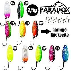 Wobbler Forelle Barsch Wobbler Paradox Fishing Forellen Wobbler Set 5 sinkende Wobbler zum Forellen Angeln oder als Barsch K/öder 3,9cm 1,5g Lauftiefe: ca. 0,6m