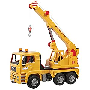 Bruder 02754 - Camion grue MAN jaune: Amazon.fr: Jeux et
