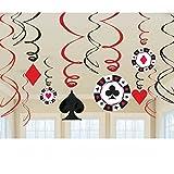 Amscan Casino Swirls 12-Decorations