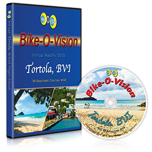 Bike-O-Vision - Virtual Cycling Adventure - Tortola, British Virgin Islands - Perfect for Indoor Cycling and Treadmill Workouts - Cardio Fitness Scenery Video (Widescreen DVD #48) (Cycling Virtual)