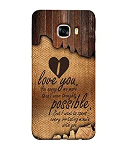 Samsung Galaxy C5 SM-C5000 Back Cover Love You You Annoy Me More I Ever Thought Design From FUSON