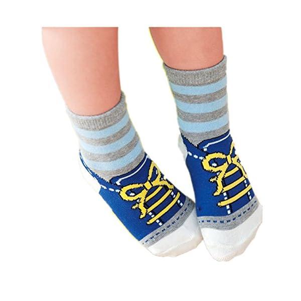 GOPOWD 6 pares Bebé Calcetines Antideslizantes ABS para los 1-36 Meses Niños Color Aleatorio 2