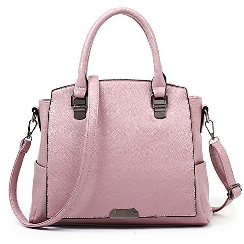 fanhappygo Fashion Retro Leder Damen elegant Hochwertig Handtaschen Umschlag Schulterbeutel Umhängetaschen rosa
