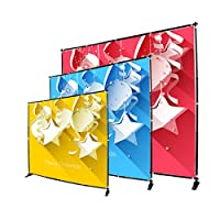 Sign Talk Telescopic Banner Stand Step and Repeat Adjustable Backdrop Wall Exhibitor Expanding Display Photographic Background Trade Show Photographic Back Ground (10x10ft Heavy Duty)